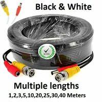 BNC DC CCTV Security Video Camera DVR Data Power Extension Cable 5m 10m 20m 30m>