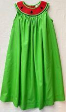 Girls Green Sleeveless Smocked Red Watermelon Seed Dress Multiple Sizes BNWT