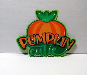 Pumpkin Cutie Title  paper piecing Premade Scrapbook Pages