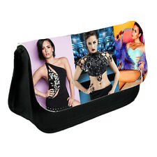Demi Lovato Theme Pencil Case Or Make-Up Bag Black