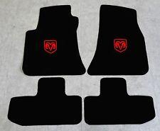 Autoteppich Fußmatten für Dodge Challenger ab Bj.2008 Velours Nubuk rot Neu