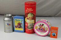 5 Repro Reklame Blechdosen - Lindt + Recheis + Miele + American Spirit +  /S329