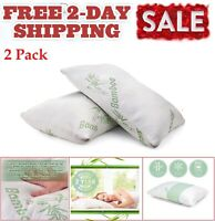 2 Pack Miracle Bamboo Pillows Memory Foam Pillow Shredded Memory Foam Pillow