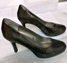 Moda Spana Bronze Snake Pattern Leather High Heel Pumps Women's Size 6M
