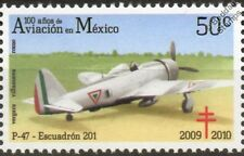 FAM 201 Sqn P-47 THUNDERBOLT Aircraft Stamp (100 Years of Aviation in Mexico)
