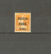 """FRANCE STAMP TIMBRE PREOBLITERE N°30 """"SEMEUSE 5c POSTES PARIS 1922"""" NEUF xx TTB"""