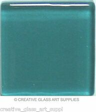Teal Blue-Green Glass Mosaic Tiles - 3/8 inch - 50 Tiles - Craft & Art Supply