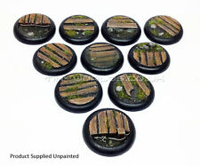30mm Round Lipped Bayou Boardwalk Resin Bases - Warmachine Malifaux Water Effect