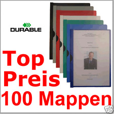 100 Bewerbungsmappen Cliphefter Klemmmappen FREI FARBEN - Mappen für Bewerbung