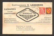 "MOUCHARD (39) CAMIONS TRACTEURS REMORQUES GAZOGENES ""Ets. S. LABOURIER"" en 1947"
