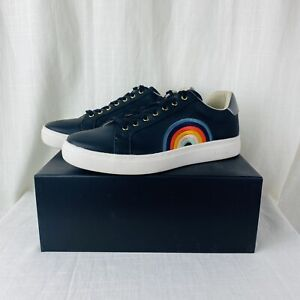 Paul Smith Women's 9 40 Leather Shoes Lapin Rainbow Sneakers Trainer DEAD STOCK