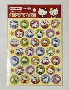 Hello Kitty Made In JAPAN SANRIO STICKERS 2sheets 64stamp Brand new