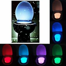 Toilet Night Light 8 Color LED Sensing Automatic Bowl Seat Sensing Glow