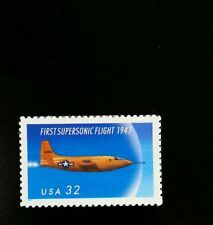 1997 32c First Supersonic Flight, 50th Anniversary, Yeager Scott 3173 Mint VF NH