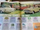 1962 AMC RAMBLER CLASSIC AMBASSADOR AMERICAN VINTAGE 3 PAGE AD