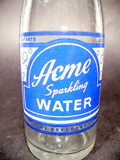 vintage ACL Soda POP Bottle: ACME SPARKLING WATER / CLUB SODA of WILKES-BARRE