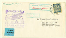 Macao Stamps Cover to Guam Transatlantic Flight Back Stamp