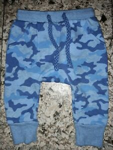 BABY BOYS Sz 00 (3-6MTHS) blue TARGET camouflage track pants CUTE!