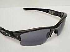 Authentic Oakley Customized Flak Jacket XLJ Grey Ink Black Grey Lens Sunglasses