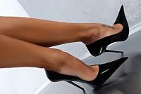 UK Womens High Stilettos Heels Nightclub Shoes Pumps Slip On Extreme Pointed Toe