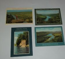 Postcard Lot Endless Mountains of Pennsylvania Wyalusing Rocks, Standing Stone