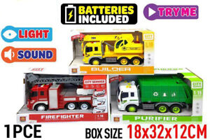 City Vehicle Friction with light&sound builder purifier Firefighter kids Gift AU