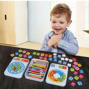 4in1 Wooden Montessori Toys for Toddlers-Math Counting Sticks Magnetic Numbers