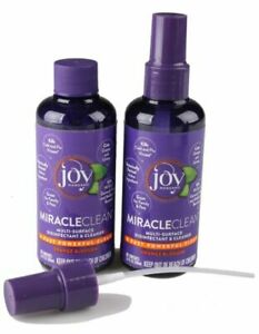 2 Travel Size Joy Mangano Miracleclean Disinfectant Cleanser 3.4oz