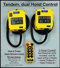 Tandem Hoist Radio Remote Control with A-B-Both select 6EX -AB monorail controls