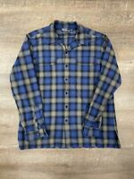 Polo Ralph Lauren Heritage Ski Camp Flannel Shadow Plaid Top Loop Board Shirt L