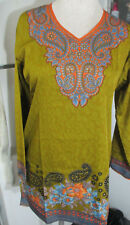 NEW Printed Crepe tunic top blouse - Printed crepe kurta size M  40
