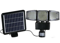 3-Head 188 LED Solar Security Motion Flood Light Outdoor Sensor Garage Lamp