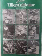 Mantis Little Wonder Lawn Garden Tiller, Implements Owner & Parts (2 Manual s)