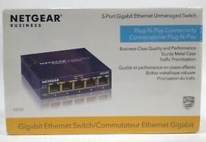 NEW SEALED Netgear #GS105 ProSafe 5-Port Gigabit Desktop Switch
