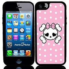 Pink Polka Dots Skull For Iphone 6 Case Cover