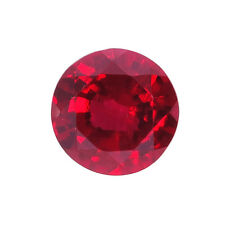 Lab Created Hydrothermal Red Ruby Round Faceted Loose Stones (2mm - 12mm)