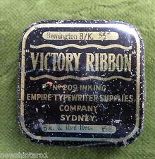 #D272.  TYPEWRITER  VICTORY  RIBBON TIN, EMPIRE TYPEWRITER SUPPLIES, SYDNEY