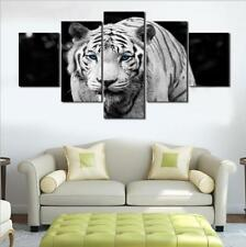 5PCS Canvas Print Home Decor Wall Art Animal Tiger Painting Picture Unframed US
