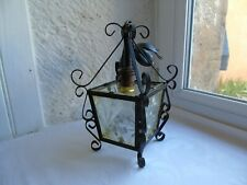 French metal ceiling light  lantern classic 4 glass panels  vintage