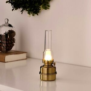 IKEA STRALA LED Table Lamp 7'' Battery Operated Brass Color 804.739.91 New