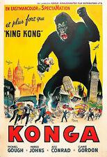 Film Konga Sci Fi Horror Gorilla King Kong Cinema  Poster Print