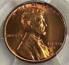 1940 S PCGS MS66 RD Lincoln Wheat Cent 1c ~ Brilliant Uncirculated Red Gem