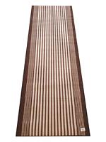 New Flair Rugs Hallway Brown Rug Runner Carpet with Free Door Mat 230cm x 60cm