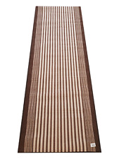 New Flair Rugs Hallway Brown Rug Runner Carpet with Free Door Mat 180cm x 67cm