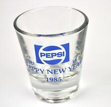 PEPSI COLA Vidrio EE.UU. Stamper Vaso para Chupitos de Shot CRISTAL 1985