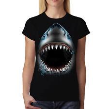 Shark Jaws Animals Women T-shirt S-3XL New