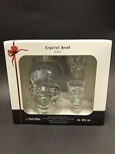 Crystal Head vodka 0,7l bouteille de 40% vol tete de mort skull + 2 verres sealed neuf emballage d'origine