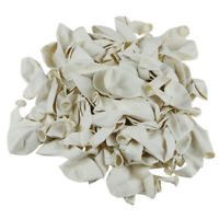 Plain White 12 Inches Helium Quality Latex Balloons - Pack of 100 M6A9 U01