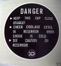 KAWASAKI Z1300 Tapa Del Radiador Refrigerante Precaución Etiqueta Label