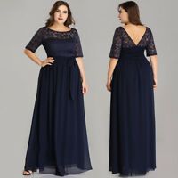 Ever-Pretty US Plus Navy Ball Party Dress Formal Prom Gown Mother Of Bride 07624